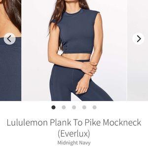 Lululemon Plank to Pike Mockneck Tank